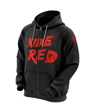 Honda Ride Red Kapüşonlu Sweatshirt (Hoodie)
