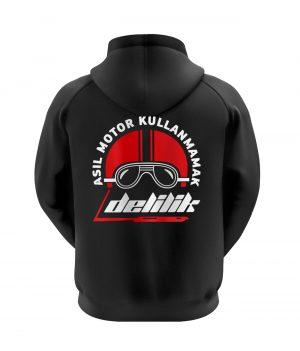 Asıl Motor Kullanmamak Delilik Kapüşonlu Sweatshirt (Hoodie)
